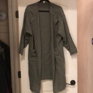 Nordstrom - BP - Duster - Muted Green - Size L